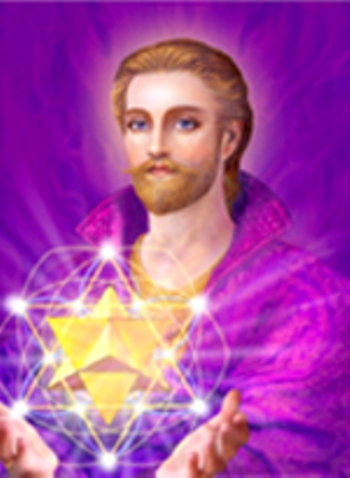 Saint germain with sacred geometry.